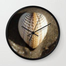 Heart Shaped Cockle Zip-Locked Wall Clock