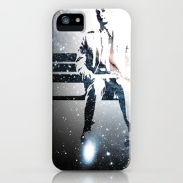 FORREST ON A BENCH & COSMOS iPhone Case