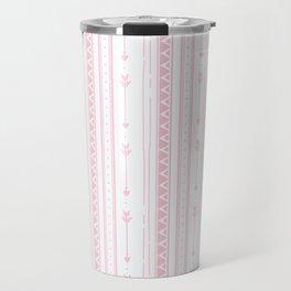 Blush pink white bohemian arrows zigzag geometrical Travel Mug