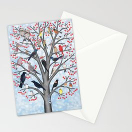 winter birds of North America Stationery Cards