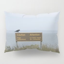 Caution (American black crow on caution sign) Pillow Sham