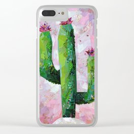 Cactus Collage Clear iPhone Case