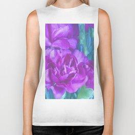 Purple Carnations Biker Tank