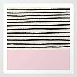 Bubblegum x Stripes Art Print
