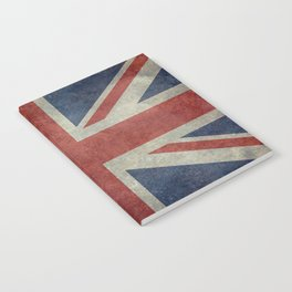 England's Union Jack, Dark Vintage 3:5 scale Notebook