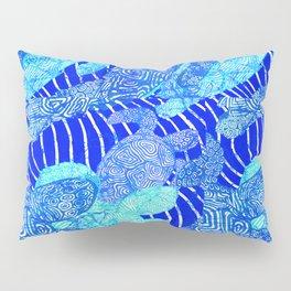 blue sea turtles Pillow Sham