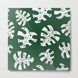 Tropical Monstera Pattern 2 Metal Print