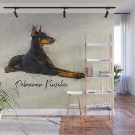 Doberman Pinscher Wall Mural