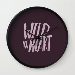 Wild at Heart x Typography Wall Clock