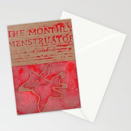 THE MONTHLY MENSTRUATOR - a periodical: Fleck Stationery Cards