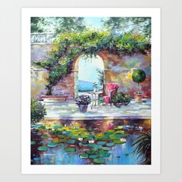 Cozy courtyard Art Print