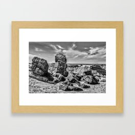 Big Rocks at Praia Malhada Jericoacoara Brazil Framed Art Print