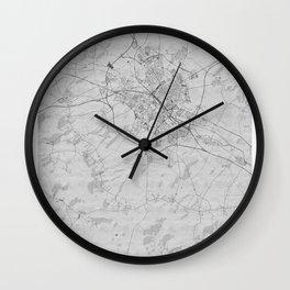 Reims Pencil City Map Wall Clock