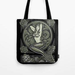 Vintage Classic Mermaid Pinup Tote Bag