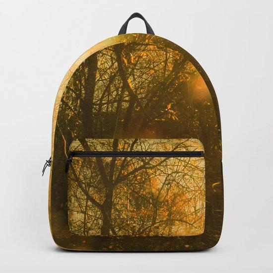 Golden Yellow Autumn Sunlight Backpack