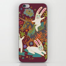 Three Rabbits and a Unicorn iPhone & iPod Skin