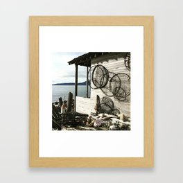 Beach Shack Lummi Island Framed Art Print