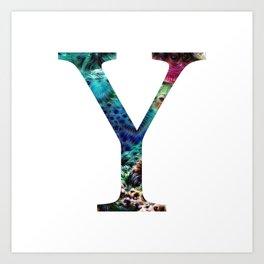 "Initial letter ""Y"" Art Print"