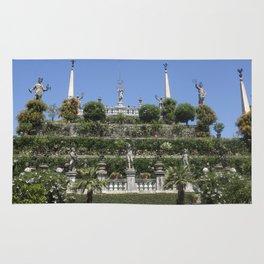 Gardens of Borromeo Palace on Isola Bella, Stresa,Italy. Rug