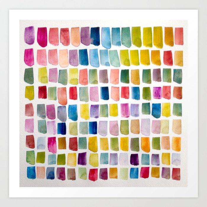 #135 Color Garden Art Print