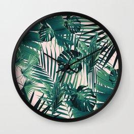 Tropical Jungle Leaves Siesta #2 #tropical #decor #art #society6 Wall Clock