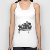 sneakers Tank Tops featuring sneakers by Cardula