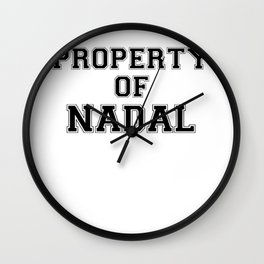 Property of NADAL Wall Clock