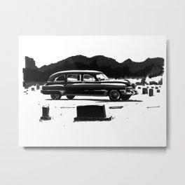 49 Cadillac Hearse Metal Print