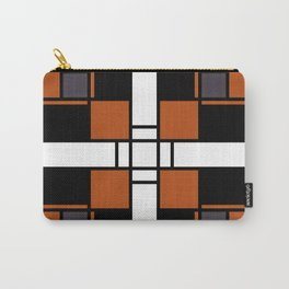 Neoplasticism symmetrical pattern in tangelo Carry-All Pouch