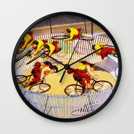 Vintage Bicycle Circus Act Wall Clock