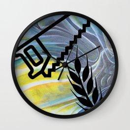 Saw Wheat YGT Wall Clock