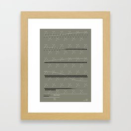 Music for 18 Musicians - Steve Reich Framed Art Print