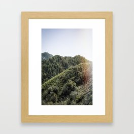 Up on the Mountain Top Framed Art Print