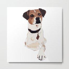 Hello. I'm a dog. Metal Print
