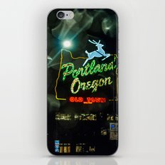Old Town Sign and Raindrops iPhone & iPod Skin