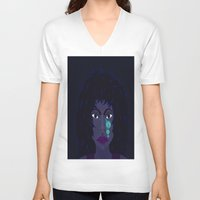 sister V-neck T-shirts featuring Sister MoonTears by Mel Moongazer