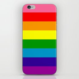 Rainbow Flag (Original Gay Pride Flag Colors) iPhone Skin