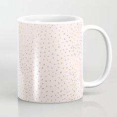 Dotted Gold & Pink Mug