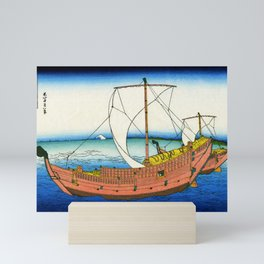 12,000pixel-500dpi - Mt,FUJI36view-Kazusa Seaway - Katsushika Hokusai Mini Art Print