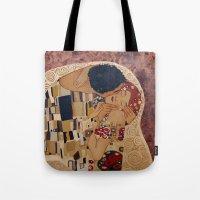 klimt Tote Bags featuring Klimt copy by Elisa Gandolfo