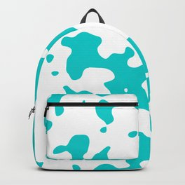 Large Spots - White and Cyan Backpack