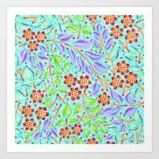 Caribbean Filigree Floral Art Print
