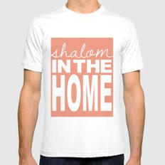 Shalom in the Home, salmon Mens Fitted Tee White MEDIUM