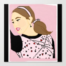Knock Knock! Chaeyoung Pink Canvas Print