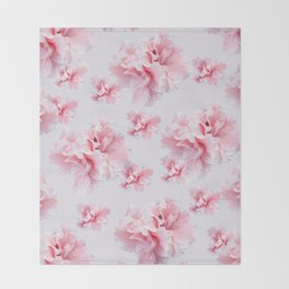 Pink Azalea Flower Dream #1 #floral #pattern #decor #art #society6 Throw Blanket