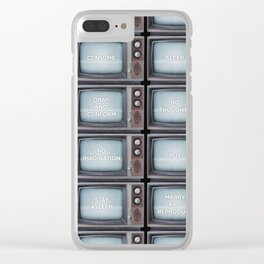They Live TV Messages Clear iPhone Case