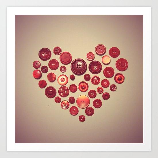 Button Love Art Print