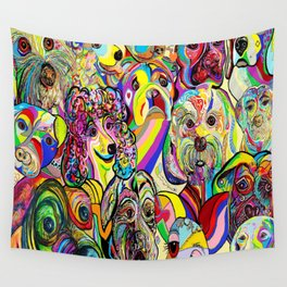 Dogs, DOGS, DOGS!! Wall Tapestry