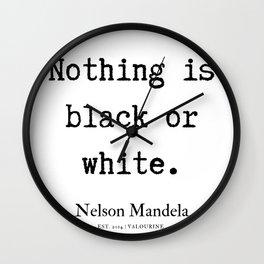 28    Nelson Mandela  Quotes   190818 Wall Clock
