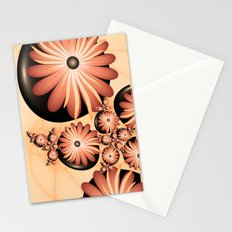Fantasy Flowers On Stones Fractal Art Stationery Cards